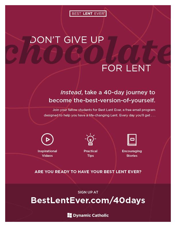Image result for dynamic catholic lent flyer